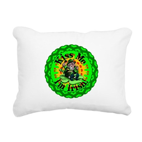 irishkaleid1a.png Rectangular Canvas Pillow