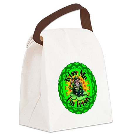 irishkaleid1a.png Canvas Lunch Bag