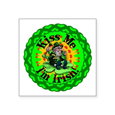 "irishkaleid1a.png Square Sticker 3"" x 3"""