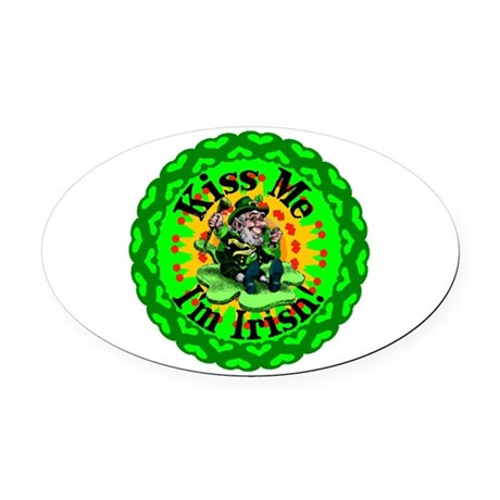 irishkaleid1a.png Oval Car Magnet