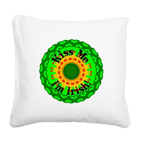 irishkaleid1.png Square Canvas Pillow