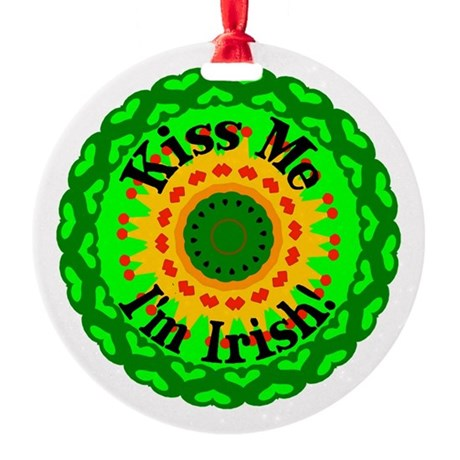 irishkaleid1.png Round Ornament
