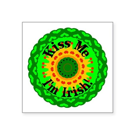 "irishkaleid1.png Square Sticker 3"" x 3"""