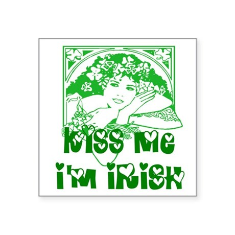 "irishgirl2.png Square Sticker 3"" x 3"""
