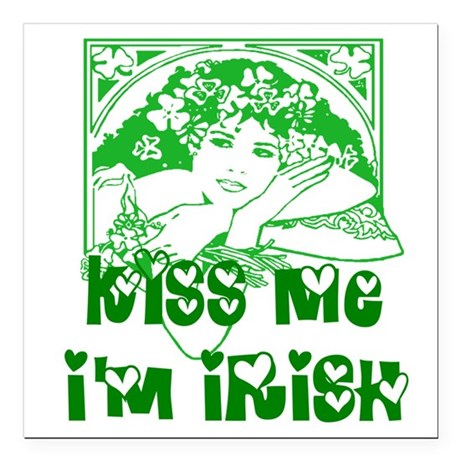 "irishgirl2.png Square Car Magnet 3"" x 3"""