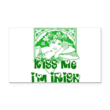 irishgirl2.png Rectangle Car Magnet