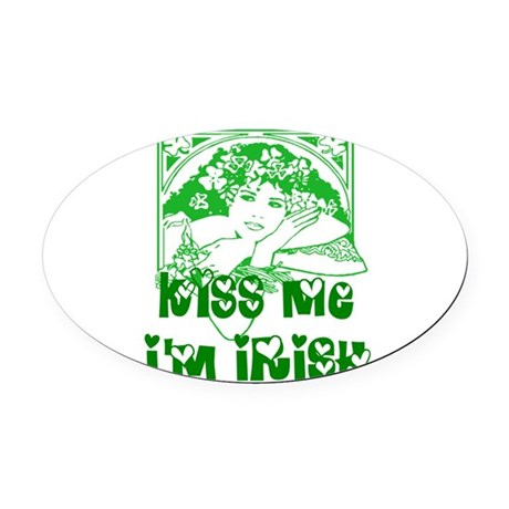 irishgirl2.png Oval Car Magnet