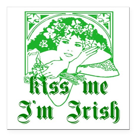 irishgirl2a.png Square Car Magnet 3&quot; x 3&quot;