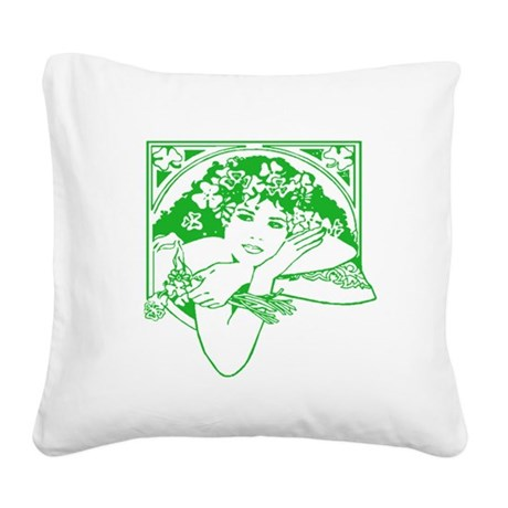 irishgirl.png Square Canvas Pillow