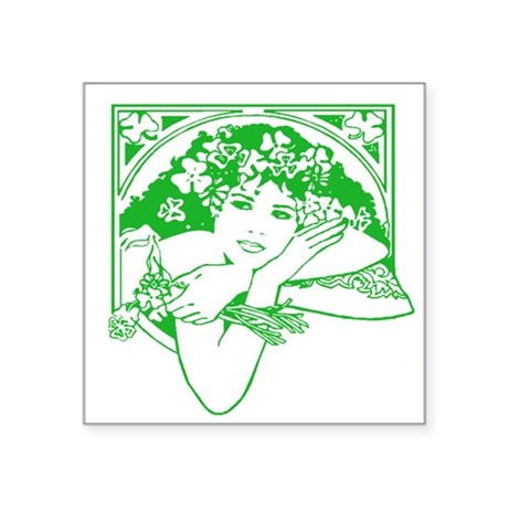 irishgirl.png Square Sticker 3&quot; x 3&quot;