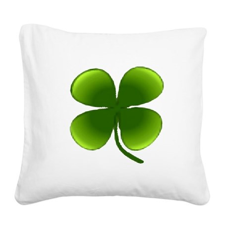 four leaf clover Square Canvas Pillow