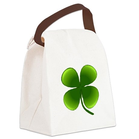 four leaf clover Canvas Lunch Bag