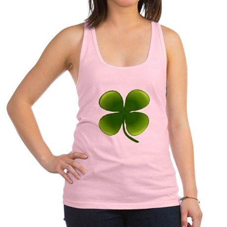four leaf clover Racerback Tank Top