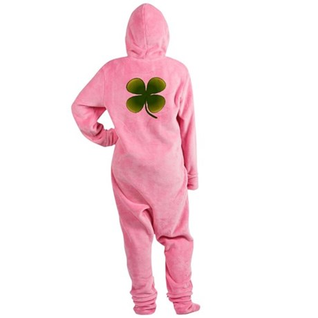 four leaf clover Footed Pajamas