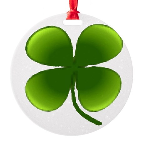 four leaf clover Round Ornament