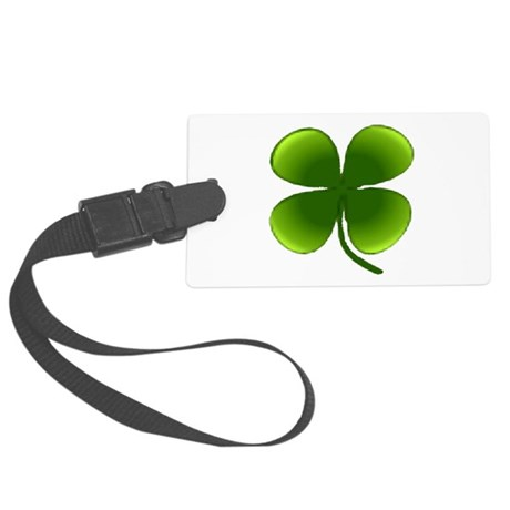 four leaf clover Large Luggage Tag