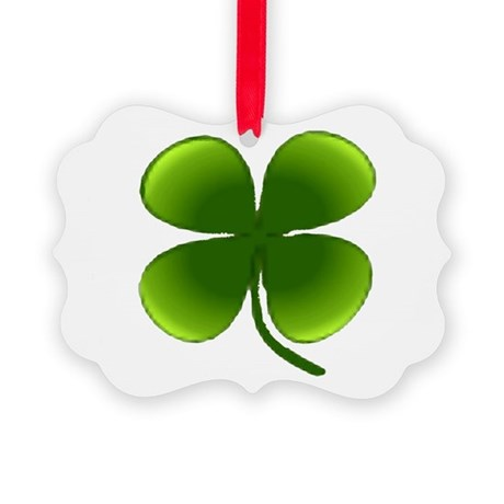 four leaf clover Picture Ornament
