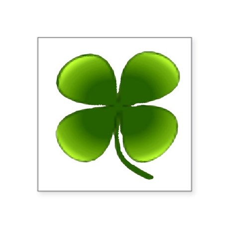 "four leaf clover Square Sticker 3"" x 3"""