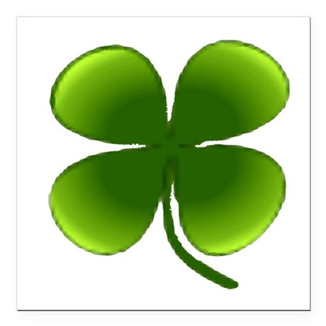 "four leaf clover Square Car Magnet 3"" x 3"""