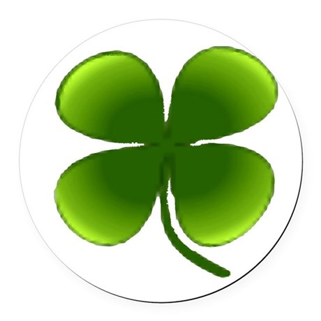 four leaf clover Round Car Magnet