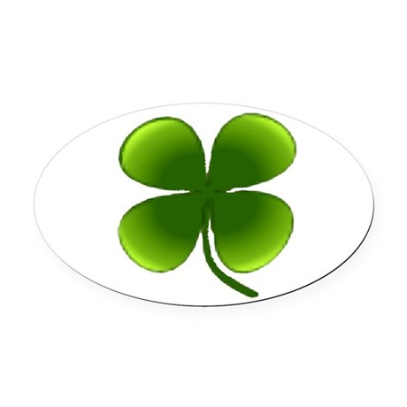 four leaf clover Oval Car Magnet