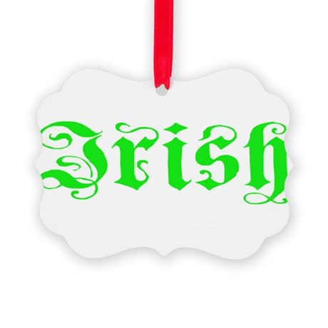 irish Picture Ornament