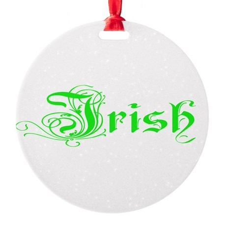 irish Round Ornament