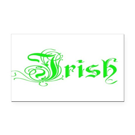 irish Rectangle Car Magnet