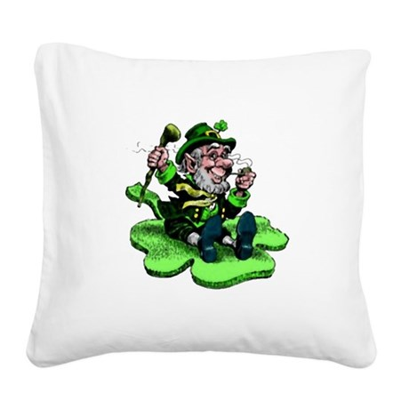 leprechaun Square Canvas Pillow