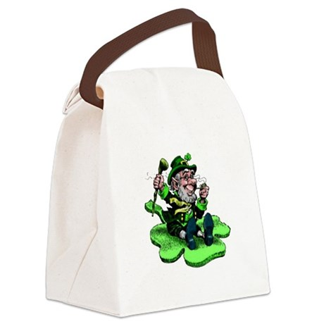 leprechaun Canvas Lunch Bag