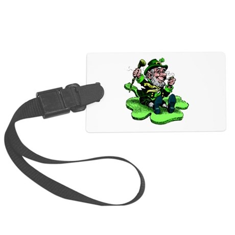 leprechaun Large Luggage Tag