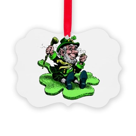 leprechaun Picture Ornament