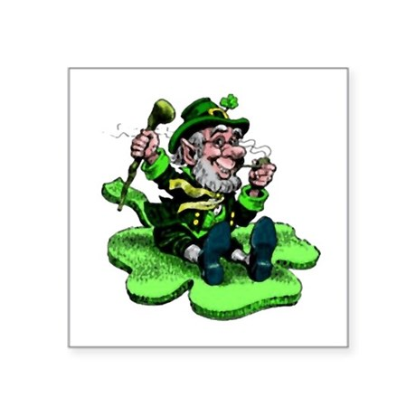 "leprechaun Square Sticker 3"" x 3"""