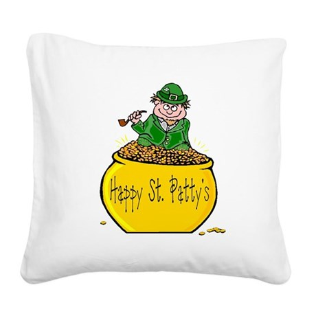Pot of Gold Square Canvas Pillow