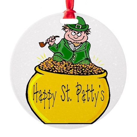 Pot of Gold Round Ornament