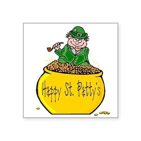 "Pot of Gold Square Sticker 3"" x 3"""