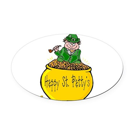 Pot of Gold Oval Car Magnet