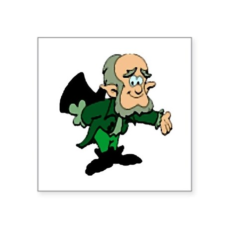 leprechaun Square Sticker 3&quot; x 3&quot;