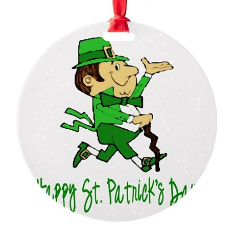 leprechaun Round Ornament