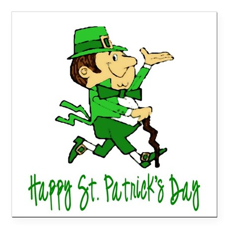 "leprechaun Square Car Magnet 3"" x 3"""