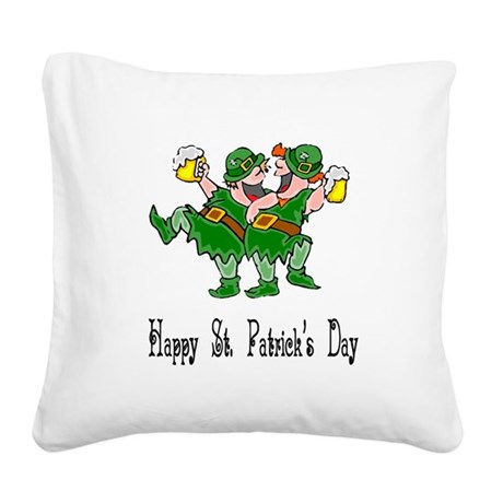 leprechauns Square Canvas Pillow