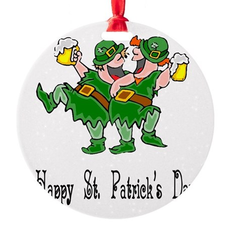leprechauns Round Ornament