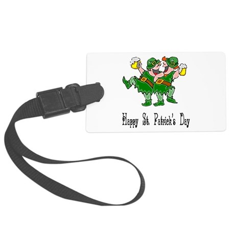 leprechauns Large Luggage Tag