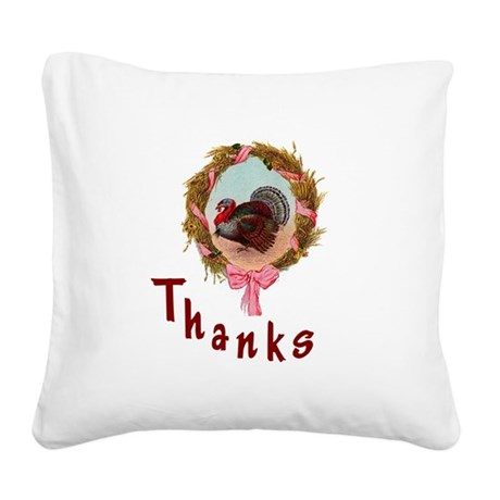 turkey1a.png Square Canvas Pillow