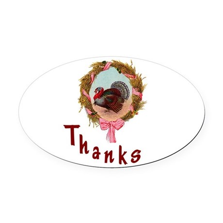 turkey1a.png Oval Car Magnet