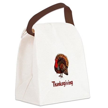 turkey2b.png Canvas Lunch Bag