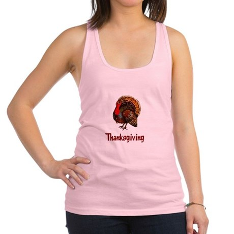turkey2b.png Racerback Tank Top