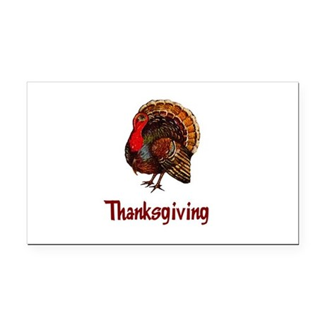 turkey2b.png Rectangle Car Magnet