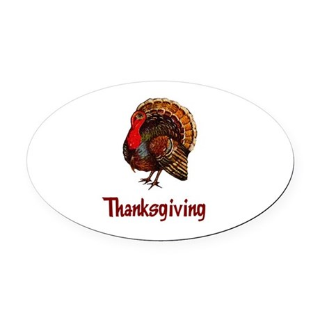 turkey2b.png Oval Car Magnet