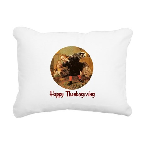 turkey3b.png Rectangular Canvas Pillow